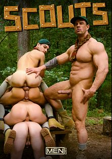 Scouts, starring Jimmy Fanz, Zeb Atlas, Johnny Rapid, Zac Stevens, Jack Radley and C.K.Steel, produced by Men.