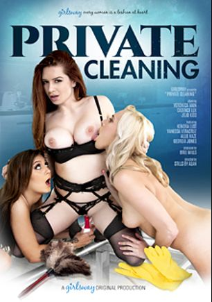 Private Cleaning, starring Jojo Kiss, Veronica Vain, Cadence Lux, Kendra Lust, Vanessa Veracruz, Allie Haze and Georgia Jones, produced by Girlsway.