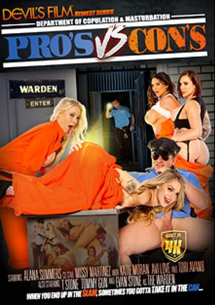 Pro's VS Con's, starring Alana Summers, Tori Avano, Missy Martinez, Katie Morgan, Avi Love, T Stone, Tommy Gunn and Evan Stone, produced by Devils Film and Devil's Film.