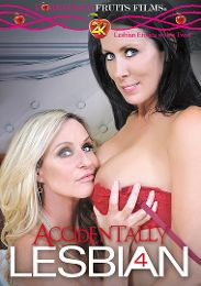 "Exclusive Movies presents the adult entertainment movie ""Accidentally Lesbian 4""."