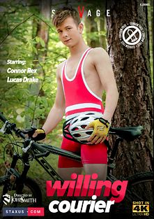 Willing Courier, starring Connor Rex, Lucas Drake, Casey Flip, Vitali Kutcher, Rob Nielsen, Martin Rivers and Justin Fisher, produced by Staxus.