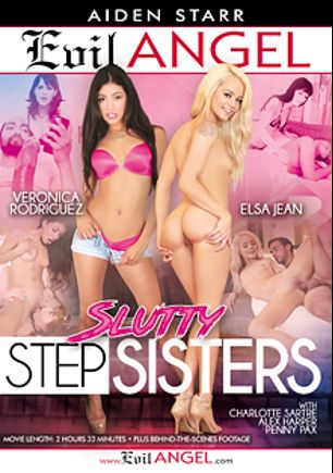 Slutty Stepsisters, starring Elsa Jean, Veronica Rodriguez, Alex Harper, Charlotte Sartre, Donny Sins, Penny Pax, Mickey Mod and Jake Adams, produced by Evil Angel and Aiden Starr.