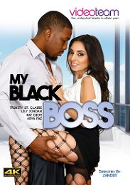 """Featured Category - Black Dicks / White Chicks presents the adult entertainment movie """"My Black Boss""""."""
