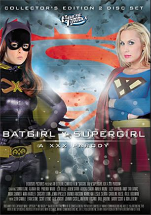 Batgirl V Supergirl: A XXX Parody, starring Alanah Rae, Aiden Starr, Rylie Richman, Leslie Sierra, Seth Gamble, Tatum Pierce, Andy San Dimas, Chastity Lynn, Phoenix Marie, Kayme Kai, Carolyn Reese, India Summer, Lexi Belle, Johnny Castle, Barry Scott, Lizzy Borden, Amber Rayne, Jenna Presley, Sunny Lane, Alec Knight, Nina Hartley, Dale DaBone and Evan Stone, produced by Extreme ComiXXX.