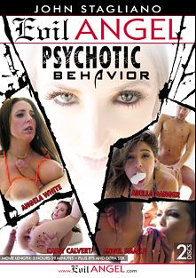 Psychotic Behavior, starring Angel Smalls, Abella Danger, Casey Calvert, Angela White, Small Hands, Owen Gray, Markus Tynai and Xander Corvus, produced by John Stagliano and Evil Angel.