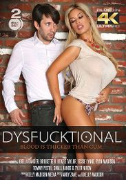 "Featured Star - Bridgette B. presents the adult entertainment movie ""Dysfucktional: Blood Is Thicker Than Cum""."