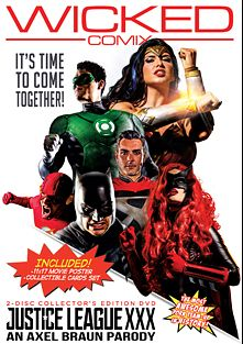 Justice League XXX: An Axel Braun Parody, starring August Ames, Aiden Ashley, Charlotte Stokely, Lena Paul, Katrina Jade, Romi Rain, Jessa Rhodes, Tyler Nixon, Giovanni Francisco, Xander Corvus, Ryan Driller, Derrick Pierce, Dana Vespoli and Jessica Drake, produced by Wicked Comix and Wicked Pictures.