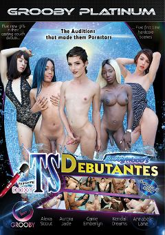 "Adult entertainment movie ""Buddy Wood's TS Debutantes"" starring Carrie Emberlyn, Aurora Jade & Annabelle Lane. Produced by Grooby Productions."