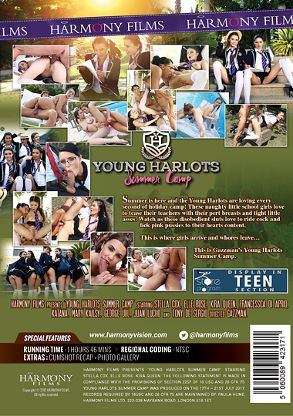 Straight Adult Movie Young Harlots: Summer Camp - back box cover
