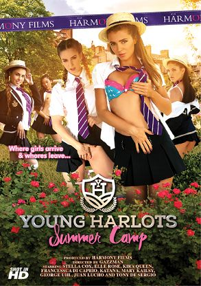 Straight Adult Movie Young Harlots: Summer Camp - front box cover