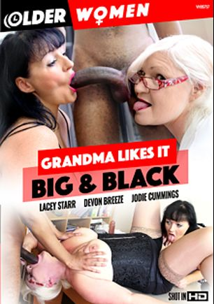 Grandma Likes It Big And Black, starring Leks Lean, Devon Breeze (f), Jodie Cummings, Lacey Starr, Otis Blackstock, Ricardo C. Johnson and Drew Wade, produced by Older Women.
