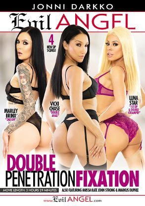 Straight Adult Movie Double Penetration Fixation - front box cover