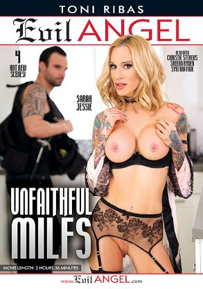 Straight Adult Movie Unfaithful MILFs - front box cover