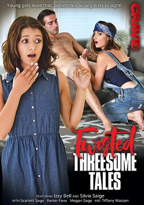 Straight Adult Movie Twisted Threesome Tales - front box cover
