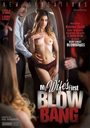Straight Adult Movie My Wife's First Blow Bang - front box cover