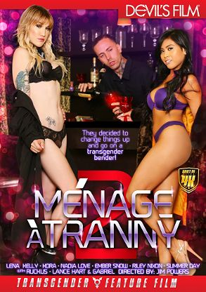 Straight Adult Movie Menage A Tranny 2 - front box cover
