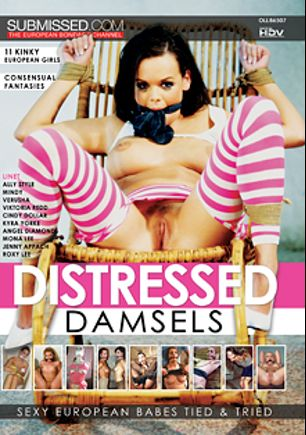 Distressed Damsels, starring Linet Slag, Roxy Lee, Angel Diamonds, Vicktoria Redd, Savannah Secret, Jenny De Lugo, Nicole Baby, Ally Style, Mona Lee and Cindy Dollar, produced by Submissed.