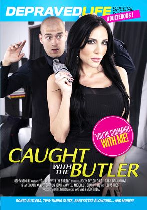 Straight Adult Movie Caught With The Butler - front box cover