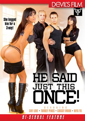 Straight Adult Movie He Said Just This Once - front box cover
