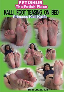 Kalli Foot Teasing On Bed