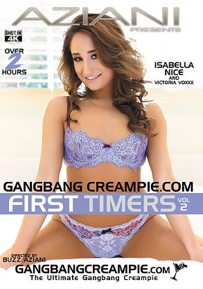 Straight Adult Movie Gangbang Creampie: First Timers 2 - front box cover