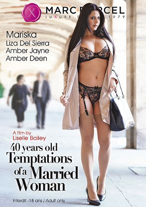 Straight Adult Movie 40 Years Old Temptations Of A Married Woman - front box cover