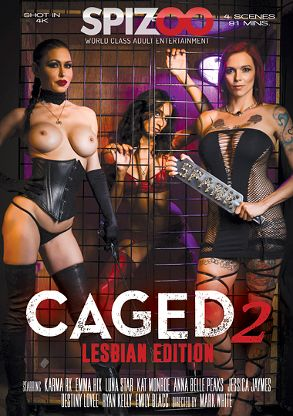 Straight Adult Movie Caged 2: Lesbian Edition - front box cover