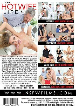 Straight Adult Movie The Hotwife Life 4 - back box cover
