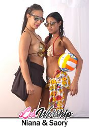 Straight Adult Movie Les Worship: Niana And Saory