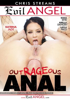 Straight Adult Movie Outrageous Anal - front box cover