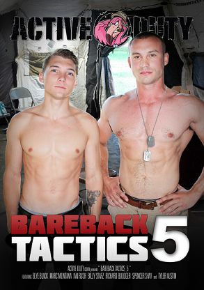 Gay Adult Movie Bareback Tactics 5 - front box cover