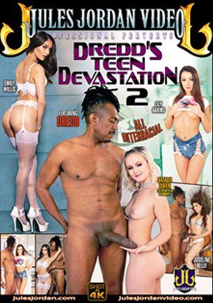 Dredd's Teen Devastation 2, starring Natalia Queen, Emily Willis, Lily Adams, Joseline Kelly and Dredd, produced by Jules Jordan Video.