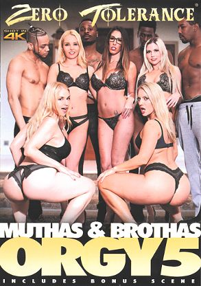 Straight Adult Movie Muthas And Brothas Orgy 5 - front box cover