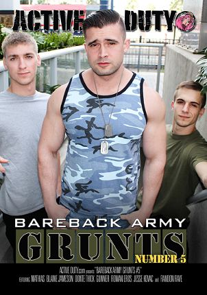 Gay Adult Movie Bareback Army Grunts 5