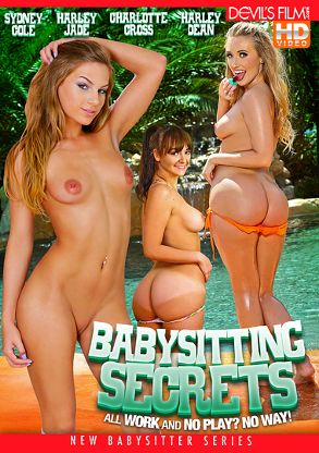 Straight Adult Movie Babysitting Secrets - front box cover