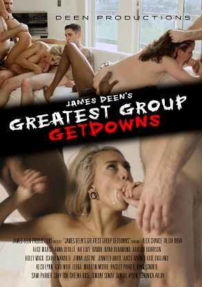 Straight Adult Movie James Deen's Greatest Group Getdowns - front box cover