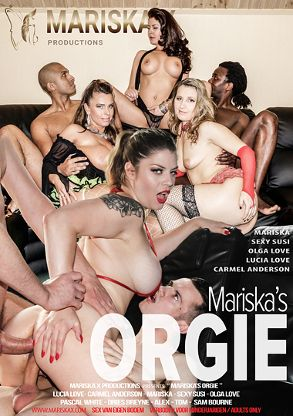 Straight Adult Movie Mariska's Orgie - back box cover
