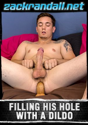 Gay Adult Movie Filling His Hole With A Dildo