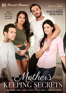 Mother's Keeping Secrets, starring Silvia Saige, India Summer, Mackenzie Moss, Stirling Cooper, Lucas Frost and Small Hands, produced by Mile High Media and Sweet Sinner.