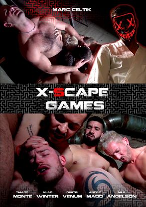 Gay Adult Movie X-Scape Games - front box cover