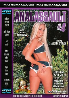 "Adult entertainment movie ""Anal Assault 4"" starring Autumn Haze, Austin O'Riley & Phyllisha Anne. Produced by Mayhem XXX."