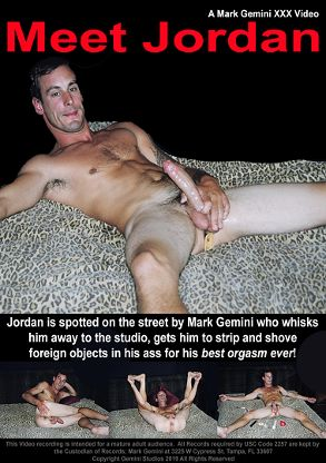 Gay Adult Movie Meet Jordan - back box cover