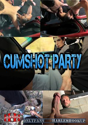 Gay Adult Movie Cumshot Party - front box cover