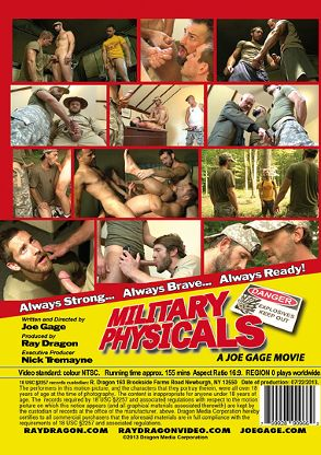 Gay Adult Movie Military Physicals - back box cover