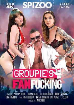 Straight Adult Movie Groupie's Fan Fucking - front box cover