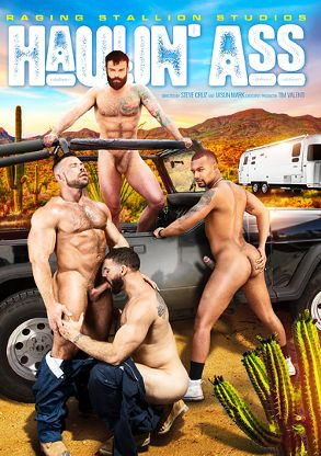 Gay Adult Movie Haulin' Ass - front box cover