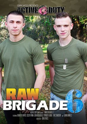 Gay Adult Movie Raw Brigade 6 - front box cover
