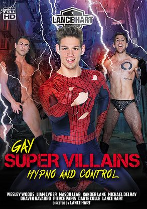Gay Adult Movie Gay Super Villains - Hypno And Control - front box cover