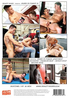 Gay Adult Movie Dudes In Public 10 - back box cover