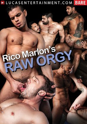 Gay Adult Movie Rico Marlon's Raw Orgy - front box cover